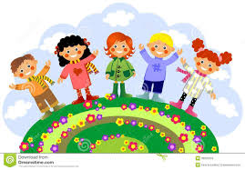 Image result for children in spring clipart