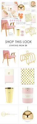 blush and gold office decor by alexandrazeres liked on polyvore featuring interior chatham home office decorator