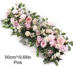 100cm and 50cm Artificial Flowers for Wedding Wall ... - Amazon.com