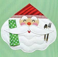 Merry <b>Santa Placemat</b> Sewing <b>Pattern</b> | <b>Christmas placemats</b> ...