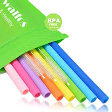 <b>WALFOS</b> Reusable Straws - Food Grade & BPA FREE Bendy ...