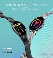 <b>Virtoba CN58 Tempered</b> Glass Touch Smart Watch Man Women ...