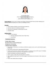 example of job objectives on a resume fourg resume and esay example of job objectives on a resume