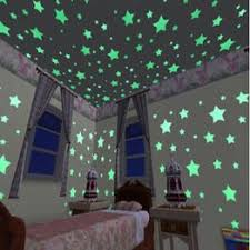 1Set/100PCS Kids Bedroom Beautiful Fluorescent Glow In ... - Vova