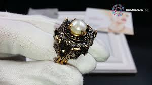 <b>Кольцо Maurizio Mori</b> с жемчугом и кристаллами, MM-AN170740 ...