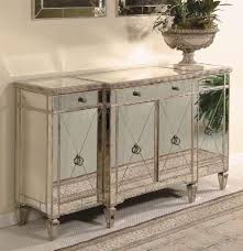 borghese wood buffet server w antique silver tone finish beveled mirror front borghese mirrored furniture