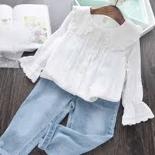 淘宝热卖的女宝宝花边衬衫推荐
