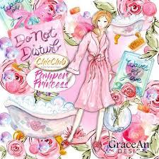 <b>Watercolor Fashion</b> Clipart | Spa <b>Girl</b> Pamper | <b>Watercolor</b> Boho ...