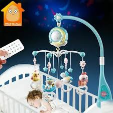 <b>Baby Rattles Crib Mobiles</b> Toy Holder Rotating Mobile Bed Bell ...