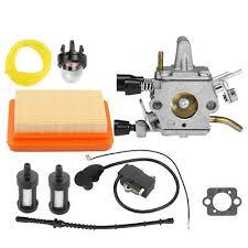 <b>Carburetor Ignition Coil</b> Air Filter <b>Fuel</b> line For Stihl FS120 FS200 ...