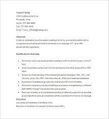 java developer resume template –    free samples  examples    java developer sample resume template