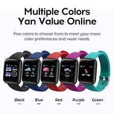 D13 Smart Watch <b>116 Plus</b> Heart Rate Watch <b>Wristband Sports</b> ...