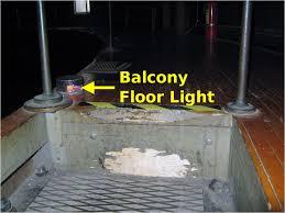 figure 8 mezzanine balcony floor lighting red balcony lighting