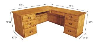 taos l shape rustic wood desk shaped wood desks home