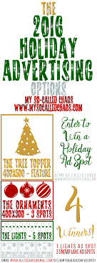 holiday advertising promotion an ad giveaway my so called chaos enter to win holiday advertising for your blog shop small business etc