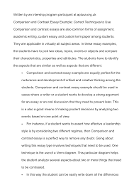 example compare and contrast essay point by point introduction 23 cover letter template for comparing and contrasting essay compare and contrast essay essay samples