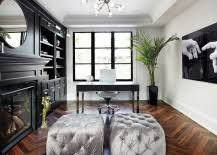 chic home office with a hint of hollywood regency chic home office white