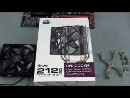 How to Install a <b>Cooler Master Hyper</b> 212 Evo CPU Cooler - YouTube