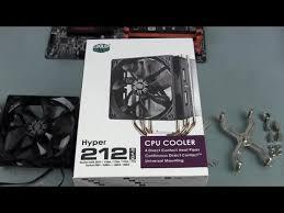 How to Install a <b>Cooler Master Hyper</b> 212 Evo <b>CPU</b> Cooler - YouTube