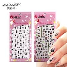 Meicailin <b>1 Sheet Embossed 3D</b> Water Nail Stickers Decals Panda ...