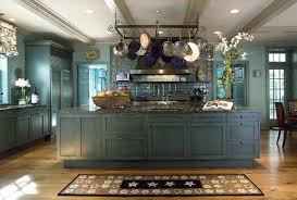 blue kitchen cabinets small painting color ideas: blue kitchen with pot rack blue kitchen with pot rack blue kitchen with pot rack