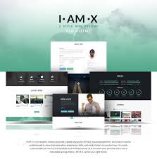 i am x bie web resume template psd html on behance