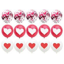 15 шт. красный белый сердце Печатный воздушный <b>шар &quot</b>