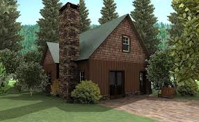 Small House Plans   Small Home Designs by Max Fulbrightsmall cottage design   loft and stone fireplace