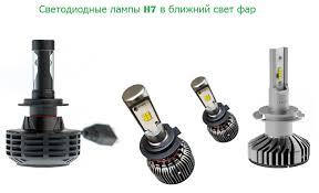 <b>Светодиодные</b> LED <b>лампы</b> H7 для <b>ближнего света</b>