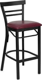 ladder dining chair black jlan hercules series black ladder back metal restaurant bar stool with burg