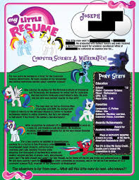 this my little pony resume does not seem to be a joke