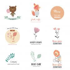 Logo design with <b>bear</b>,<b>fox</b>,<b>lion</b>,leaf and flower Vector | Premium ...