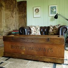 room vintage chest coffee table: industrial railway chest coffee table trunk vintage rustic storage bespoke hand crafted furniture reclaimed pine planking