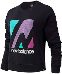 New Balance <b>Essentials Terrain</b> Graphic Crew <b>Fleece</b> S: Amazon.co ...