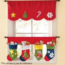 <b>2pcs</b>/<b>Set</b> Door Window Curtains Christmas Stockings <b>Decoration</b> ...
