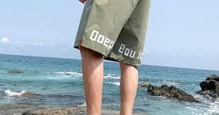 Beach Cargo <b>Shorts</b> Men Korean <b>Summer Ice Silk</b> Loose Sports ...