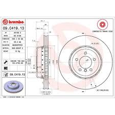 <b>Brake Disc</b> BREMBO 09.C419.<b>13</b> TWO-<b>PIECE DISCS</b> LINE BMW