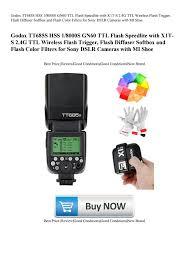 <b>Godox</b> TT685S HSS 18000S GN60 <b>TTL</b> Flash Speedlite with <b>X1T</b>-<b>S</b> ...