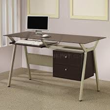 modern home office glass metal and glass computer desk alluring person home office design fascinating