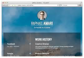 online cv  amp  portfolios   visualcv online resumeshost your resume online