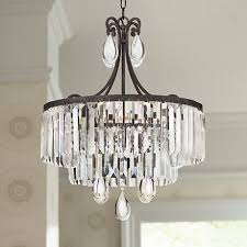 clear crystal prisms and drops shine in the light of this timeless bronze finish 4 ashine lighting workshop 02022016p