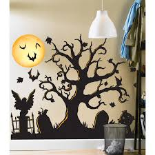 halloween gallery wall decor hallowen walljpg full size of decoration amazing halloween wall decal removable wall sticker spooky giant cemetery wall