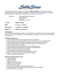 samplebusinessresume com page 14 of 37 business resume package handler transportation resume sample summary highlights material handler resume templates resume template builder inside