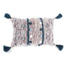 <b>Декоративная подушка</b> Tkano с <b>помпонами</b> и кисточками 40х60 ...