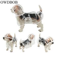 OWDBOB 1pc <b>Waterproof Dog Raincoat</b> with Hood Transparent <b>Pet</b> ...