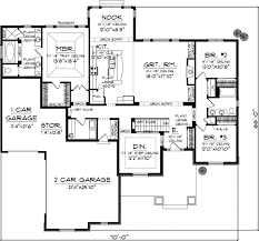 Bungalow Style House Plans   Plan   Main Floor Plan