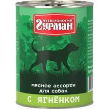 """Консервы <b>Четвероногий Гурман</b> """"<b>Мясное ассорти</b>"""" для собак, с ..."""