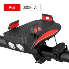 4 IN 1 Bicycle Front Light with Power Bank Function Cycling Horn ...