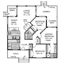 Very simple plan   bedrooms down  sf House Plan chp    Cabin House Plans  Cabin Floor  Cottage Plans  House Floor  Layout Floor Plans  Sq  Adjacent House  Modest House  Shaped Room