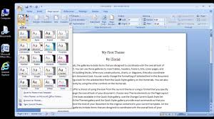 microsoft word changing a documents theme microsoft word 2007 changing a documents theme